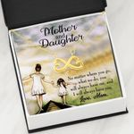 No Matter Where You Go Infinity Heart Necklace Mom Gift For Daughter