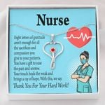 Stethoscope Necklace Gift For Nurse Thank For Your Hard Work