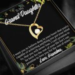 Love You For The Rest Of Mine Gift For Granddaughter 18K Gold   Forever Love Necklace