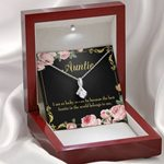 The Best Auntie In The World Belong To Me Gift For Aunt 14K White Gold Alluring Beauty Necklace