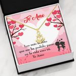 Te Amo With Message Card 18K Gold Anchor Necklace