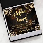 You Are The Best Among The Rest Son Gift For Mom Scripted Love Necklace
