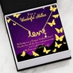 Thank For All The Love Scripted Love Necklace Gift For Mom