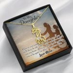 To My Daughter From Mom I Pray For You Giraffe Couple Necklace