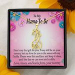 To Expecting Mother First Gift For You Giraffe Couple Necklace