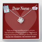 Love Knot Necklace Gift For Nurse Thank For Being The Modern Hero