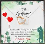 Interlocking Hearts Necklace Gift For Lovers I Thank God