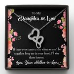 Keep Me In Your Heart Gift For Daughter In Law Double Hearts Necklace