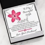 Thank You For Sharing Your Life With Me Gift For Wife Scripted Love Necklace