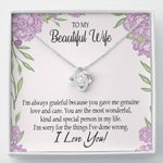 You Are The Most Wonderful Gift For Wife Love Knot Necklace