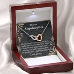 So Proud Of You Interlocking Hearts Necklace Gift For Stepdaughter