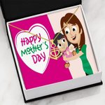 Mom And Daughter Happy Mother's Day Anchor Necklace