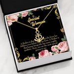 The Most Special Person In Me Message Card Anchor Necklace Gift For Mom