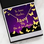Te Amo Mucho Message Card Scripted Love Necklace Gift For Mom