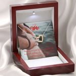Interlocking Hearts Necklace Gift For Wife Loving You Is My Life