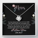 You Are Truly A Wonderful Mother Gift For Mom Custom Name Love Knot Necklace