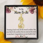 Parenting Is Hard Work Giraffe Couple Necklace Gift For Mom To Be