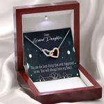 Interlocking Hearts Necklace Gift For Granddaughter You Are The Best