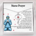 Stethoscope Necklace Gift For Nurse Prayer Thank You Lord
