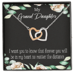 Interlocking Hearts Necklace Gift For Granddaughter Forever In My Heart
