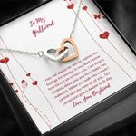 When You Walk Into My Life Interlocking Hearts Necklace Gift For Lovers