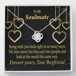 Love Knot Necklace Gift For Girlfriend Life Is Good With You In It