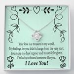 Lucky To Found Someone Like You Love Knot Necklace Gift For Wife