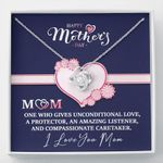 Mom One Who Gives Unconditionally Love Gift For Mom Love Knot Necklace