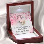 Loving You Is What I Do Interlocking Hearts Necklace Gift For Wife