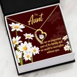 You Are An Important Part Of The Family Gift For Aunt   Forever Love Necklace