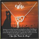 Meeting You Was Fate Interlocking Hearts Necklace Gift For Wife