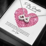 To My Daughter From Dad Valentine's Day I Love You Infinity Heart Necklace