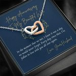 Interlocking Hearts Necklace Anniversary Gift For Wife Falling In Love With You Again