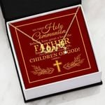 First Holy Communion Behold How Great A Love The Father Scripted Love Necklace Gift