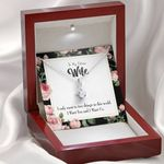 Want Two Things In The World Message Card Alluring Beauty Necklace Gift For Wife