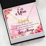 The Most Special Woman In My Heart Scripted Love Necklace Gift For Mom