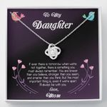 Love Knot Necklace Mom Gift For Daughter Always Be With You