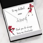 Thank You For Always Being My Cheerleader Gift For Football Mom Scripted Love Necklace