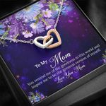 Interlocking Hearts Necklace Gift For Mom The Greatest Version Of Myself