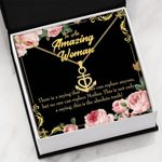 Mother Is Irreplaceable Message Card Anchor Necklace Gift For Mama