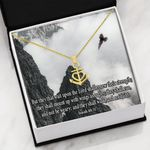 Wait Upon The Lord Religious Anchor Necklace Gift For Women