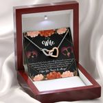 Love You Forever Interlocking Hearts Necklace Gift For Wife