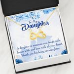 Thank You For Being My Daughter Infinity Heart Necklace Gift For Women