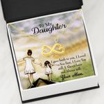 Mom Loved You First Infinity Heart Necklace Mama Gift For Daughter