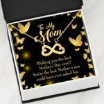 Infinity Heart Necklace Gift For Mom You're The Best