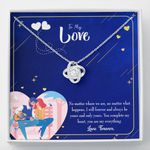Love Knot Necklace Gift For Wife You Complete Me