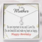 You Are Important To Me Gift For Mom Alluring Beauty Necklace