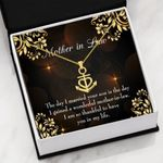 Mother In Law So Thankful To Have You Anchor Necklace