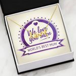 World's Best Mum Scripted Love Necklace Gift For Mom