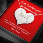 To My Granddaughter From Grandpa Valentine's Day In My Heart Scripted Love Necklace